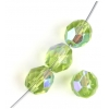 Fire Polished 8mm Transparent Olivine Aurora Borealis